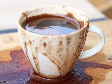 Coffee Time, Turkish Coffe, Black, Wood, Art, Task