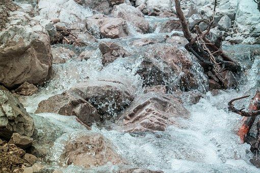 Creek, Nature, Landscape, Waterfall, River, Bach, Water