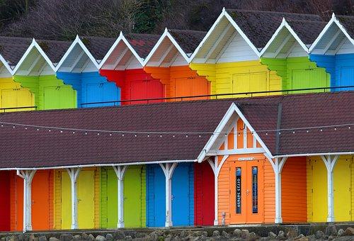 Bathing Huts, Rainbow, Scarborough, England