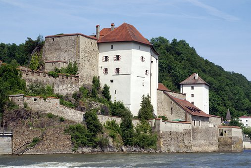 Castle House, Passau, Bavaria, City Of Three Rivers