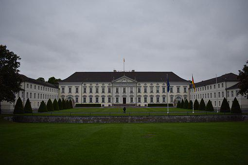 Berlin, Castle Bellevue, White, Castle, Bellevue