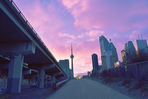 Toronto, Night, Sunset, Colorful, Afternoon, Sky