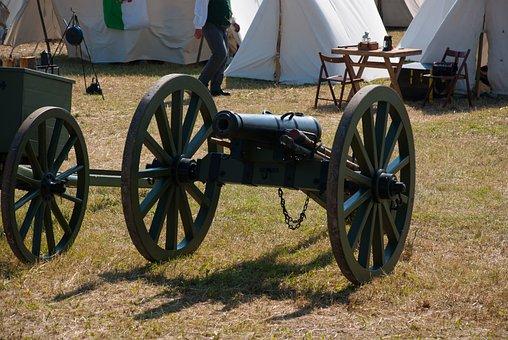 Gun, Muzzleloader, Mount, Artillery, Tent, Field Camp