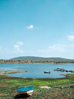 Lake, Boat, Water, Nature, Blue, Fishing, Sky