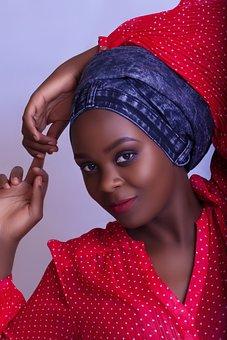 Glamour, Girl, African, Ugandan, Female, Face, People