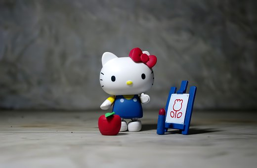Hello Kitty, Kitty, Hello, Painting, Artwork, Drawing