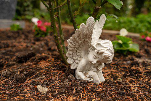 Angel, Cemetery, Grave, Mourning, Sculpture, Statue
