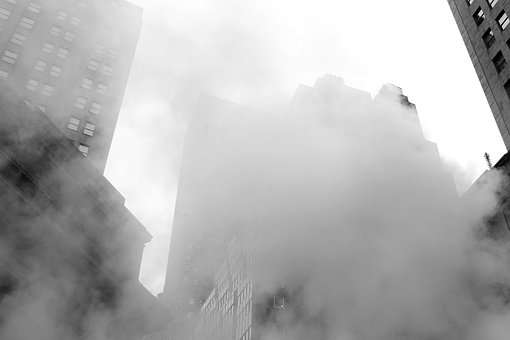 Smoke, City, New York, Nyc, Smoking, Building