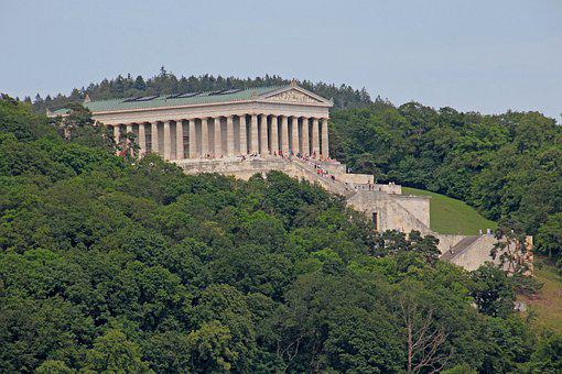 Walhalla, Donaustauf, Building, Architecture, Powerful