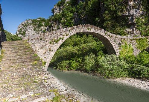 Bridge, Old, Stone, River, Water, Summer, Tourism