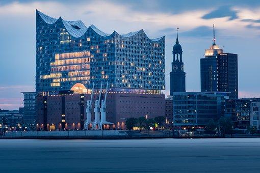 Hamburg, Port, Speicherstadt, Elbe Philharmonic Hall
