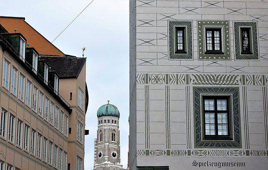 Frauenkirche, Munich, Toy Museum, State Capital, City