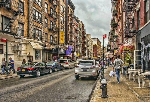 New York, Urban, City, Street, Buildings, People, Road