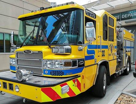 Usa, Nevada, Firefighter Vehicle, Summer, Travel
