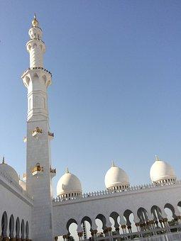Mosque, Abu Dhabi, Uae, Architecture, Islam, Muslim