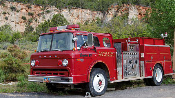 Usa, America, Firefighter Vehicle, As, Auto, American