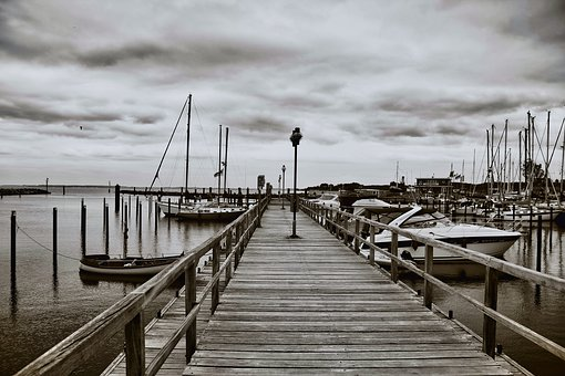 Port, Water, Rest, Boat, Sky, Vacations, Coast, Pier