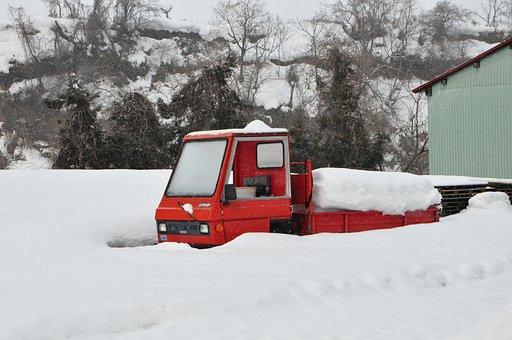 Truck, Snow, Winter, Outdoor, Weather, Vehicle