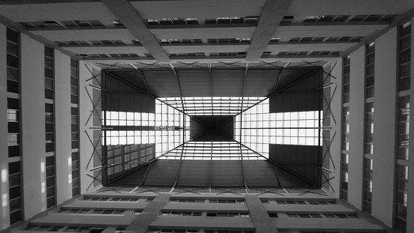 Black White, Architecture, Building, City, Modern