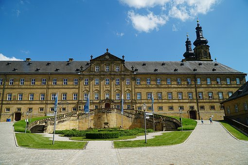 Banz Abbey, Bad Staffelstein, Facade, Park, Courtyard