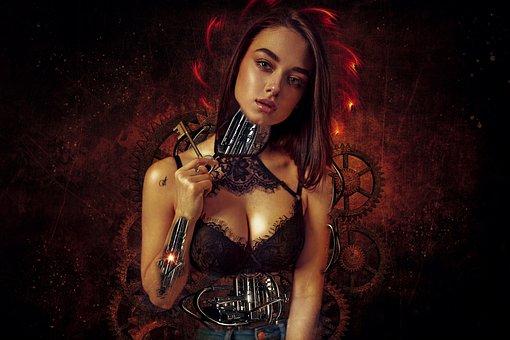 Fantasy, Dark, Gothic, Sci - Fi, Scifi, Dream, Cyborg