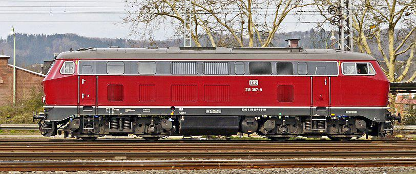 Diesel Locomotive, Old Red, Deutsche Bundesbahn