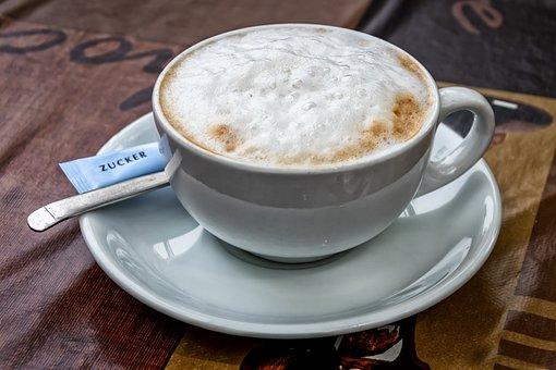 Cappuccino, Coffee, Drink, Hot, Milchschaum, White