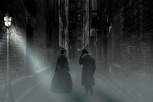Mysticism, Alley, Fog, Human, Fantastic, Atmospheric