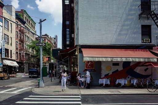 In New York City, Corner, Restaurant, Outdoor Cafe