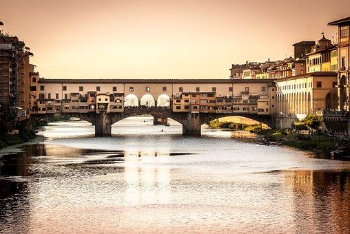Bridge, Tuscany, Florence, Italy, Firenze, Architecture