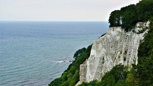 White Cliffs, Baltic Sea, Coast, Sea, Water, Landscape