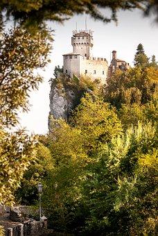 San Marino, Tower, Architecture, Castle, Landscape