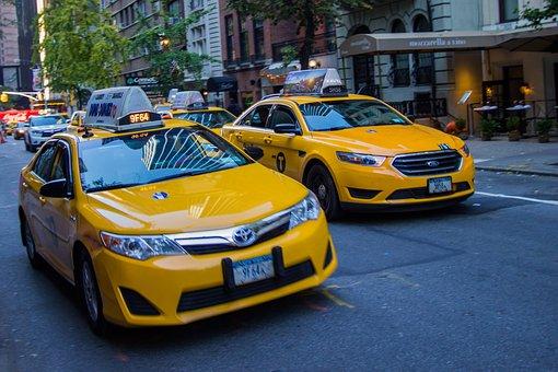 New York, Taxi, City, Nyc, Traffic, Manhattan, Urban
