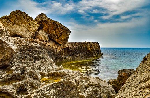 Cyprus, Cavo Greko, Landscape, Nature, Sea, Rock, Cliff