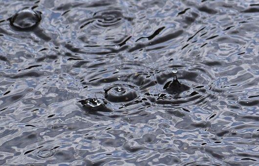 Rainfall, Raindrops, Rain, Water, Drop, Splash, Nature