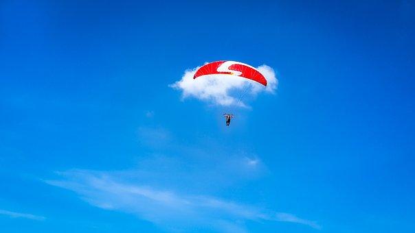 Sky, Blue, Paragliding, Sport, Parachute, Paraglider