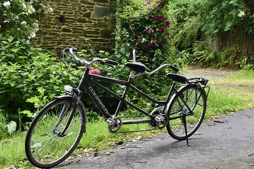 Tandem Bike, Bike Tandem, Velocipede, Bicycle, Tandem