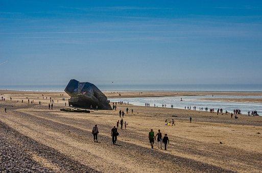 Beach, Summer, Sand, Blockhouse, Tourist, Tourism