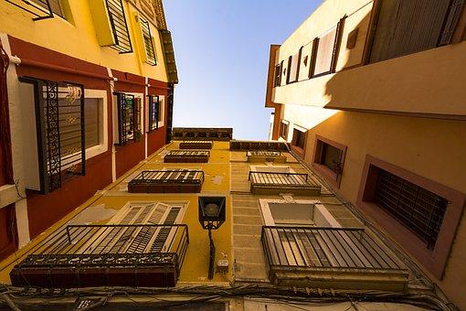 Facade, Perspective, Architecture, Skyscraper, Urban