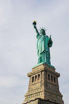 Statue Of Liberty, Manhattan, Usa, Monument, Statue