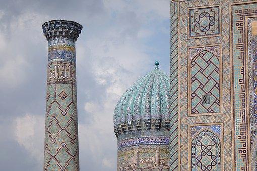 Samarkand, Mosque, Uzbekistan, Dome, Architecture