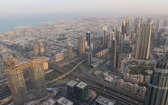 Dubai, Dawn, City, Skyscraper, Buildings, Burj Khalifa