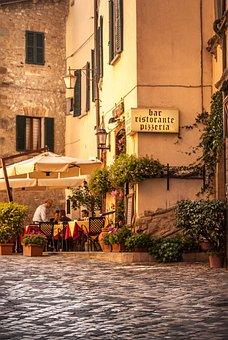 Street, Restaurant, Cafe, City, Coffee, People, Beer