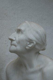 Cemetery, Portrait, Face, Broken, Tomb, Death, Relief