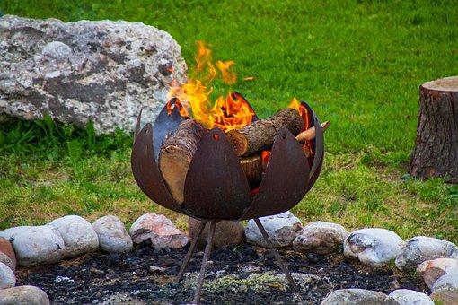 Campfire, Fire Rose, Wood, Fire, Nature, Blaze, Burn