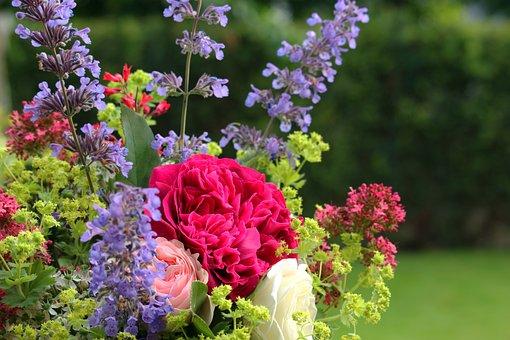 Bouquet, Summer, Summer Bouquet, Flowers, Nature, Roses