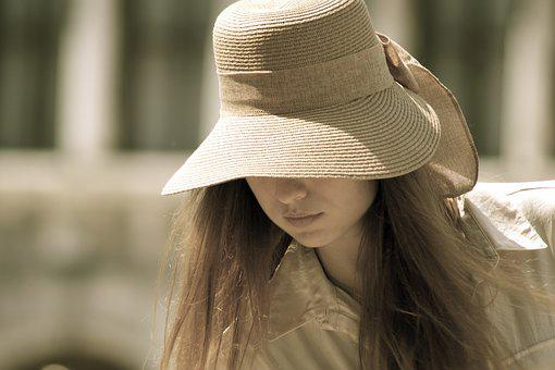 Lady In A Hat, Lady, Girl, Hat, Woman, Female, People