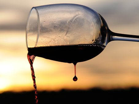 Cup, Wine, Sun, Silhouette, Vine, Grape, Vintage
