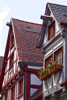 Gable, Ulm, City, Historic Center, Fachwerkhaus, Truss