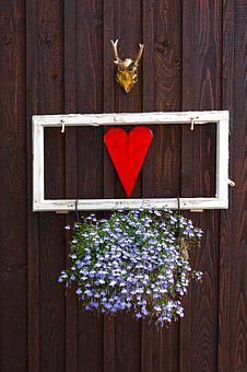 Decoration, Deco, Heart, Decorative, Funny, Wood, Hut
